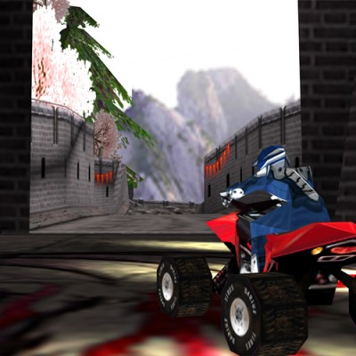 Levels for ATV race game on the Nintendo DS